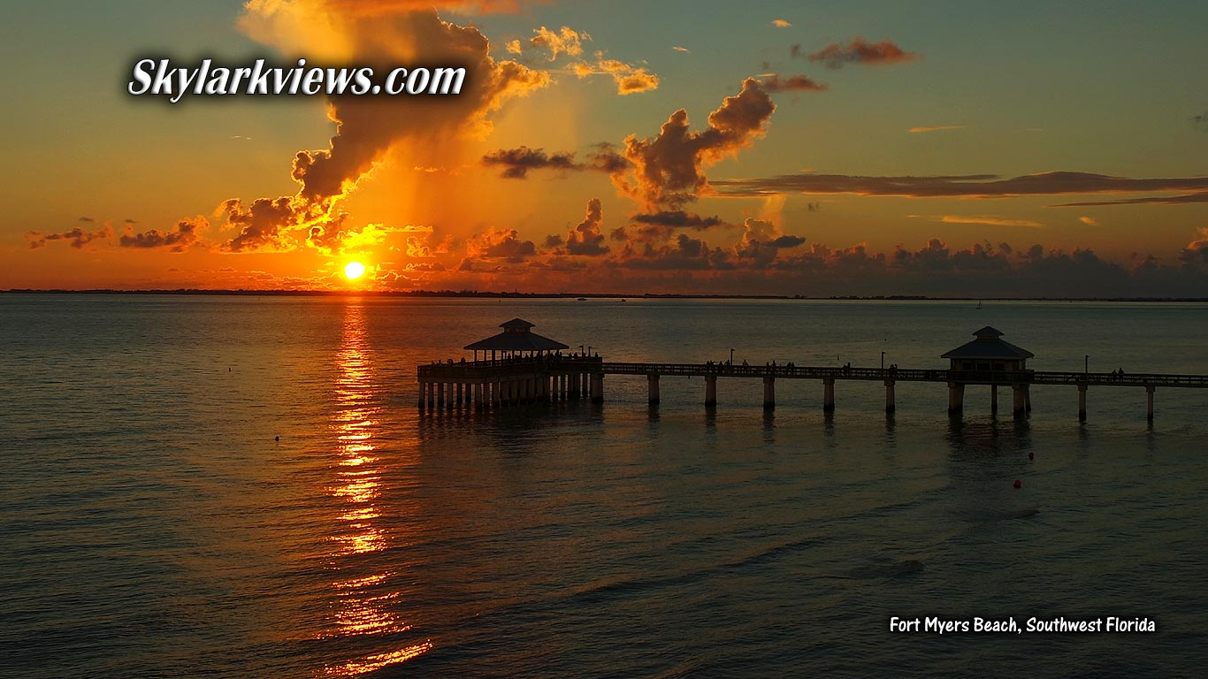 view into the sunset over jetty