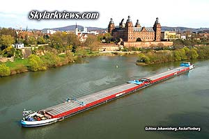 freight ship, Main river, castle