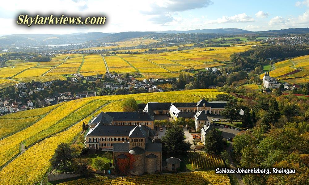 Schloss Johannisberg From Above Luftaufnahmen Von